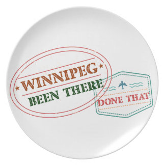 Winnipeg Been there done that Plate
