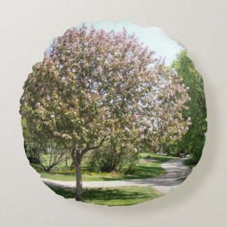 Winnipeg Blossom Round Pillow