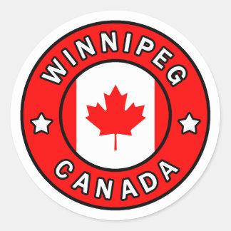 Winnipeg Canada Classic Round Sticker