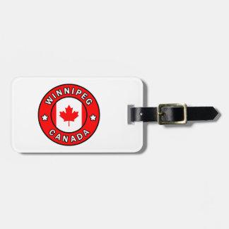 Winnipeg Canada Luggage Tag