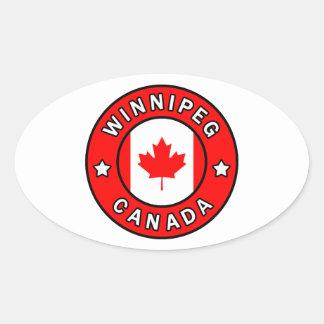Winnipeg Canada Oval Sticker