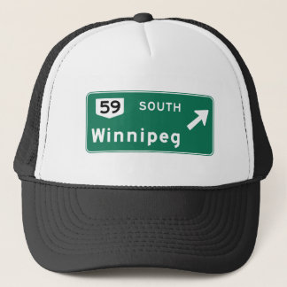 Winnipeg, Canada Road Sign Trucker Hat