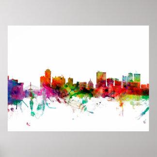 Winnipeg Canada Skyline Poster