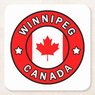 Winnipeg Canada Square Paper Coaster