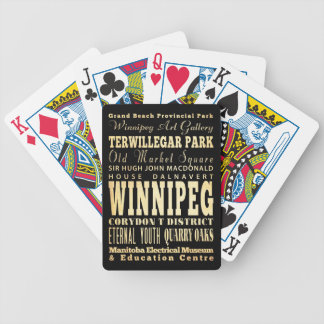 Winnipeg City of Canada Typography Art Bicycle Playing Cards