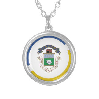 WINNIPEG Flag Silver Plated Necklace