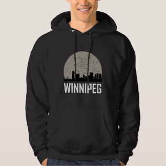 Winnipeg Full Moon Skyline Hoodie