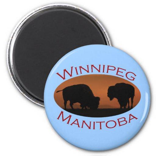 Winnipeg, Manitoba Refrigerator Magnet