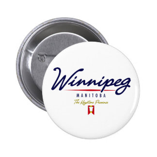 Winnipeg Script Pinback Button