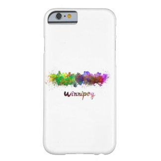 Winnipeg skyline in watercolor barely there iPhone 6 case