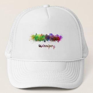 Winnipeg skyline in watercolor trucker hat