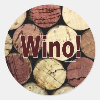 Wino! Classic Round Sticker