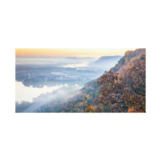"Winona Autumn Sunrise 22x10.75  1.5"" Canvas Print"
