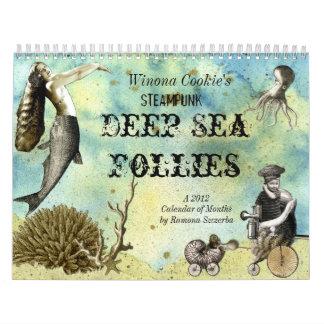 Winona Cookie's Steampunk Deep Sea Follies Calendars