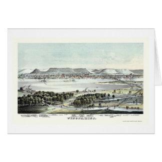 Winona, MN Panoramic Map - 1874 Card