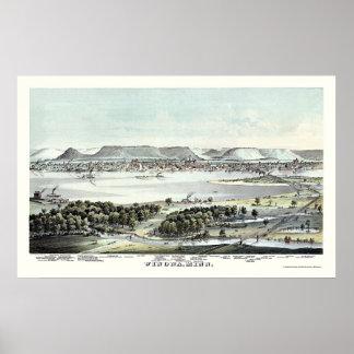 Winona, MN Panoramic Map - 1874 Poster