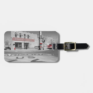 Winslow Arizona Red Splash Photograph Luggage Tag