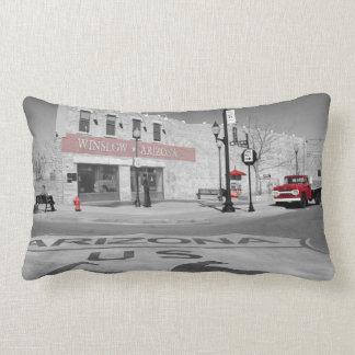 Winslow Arizona Red Splash Photograph Lumbar Pillow
