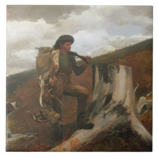 Winslow Homer - A Huntsman and Dogs Tiles