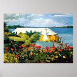 Winslow Homer art: Flower Garden and Bungalow Poster