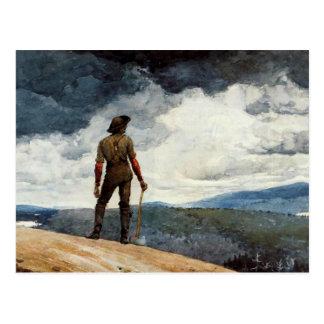 Winslow Homer artwork, The Woodcutter Postcard