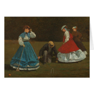 Winslow Homer - Croquet Scene Card