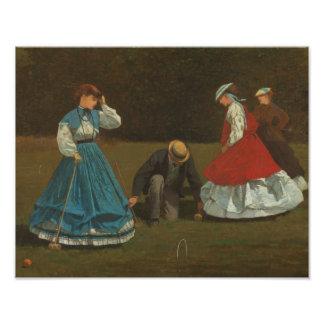 Winslow Homer - Croquet Scene Photo Art