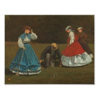 Winslow Homer - Croquet Scene Photo Print