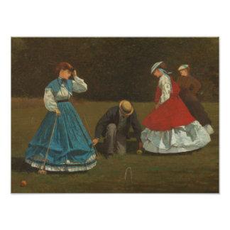 Winslow Homer - Croquet Scene Photographic Print