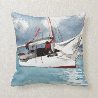 Winslow Homer Fishing Boats, Key West Throw Pillow