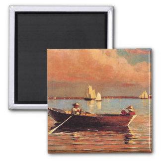 Winslow Homer: Glouchester Harbor, 1873, artwork Magnet