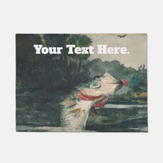 Winslow Homer Hooked Fish Doormat