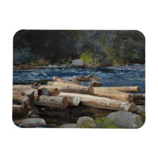 Winslow Homer - Hudson River Rectangular Photo Magnet