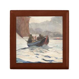 Winslow Homer - Returning Fishing Boats Keepsake Box