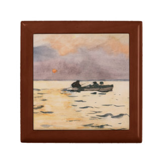 Winslow Homer - Rowing Home Keepsake Boxes