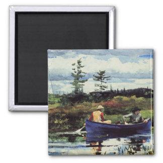 Winslow Homer: The Blue Boat, 1892, artwork Square Magnet
