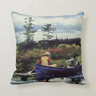 Winslow Homer: The Blue Boat, 1892, artwork Throw Pillow