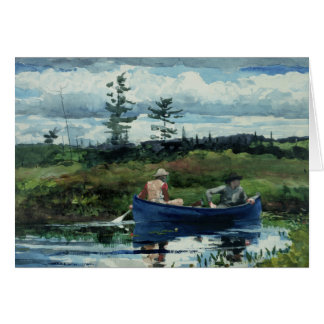 Winslow Homer - The Blue Boat Card