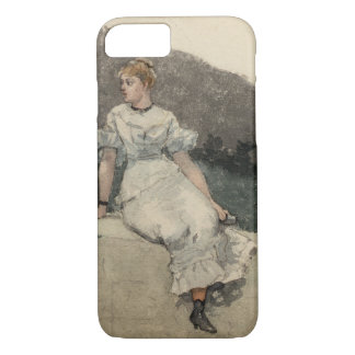 Winslow Homer - The Garden Wall iPhone 7 Case