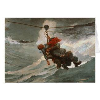 Winslow Homer - The Life Line Card