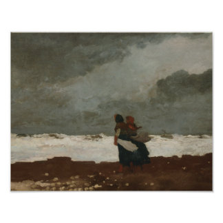 Winslow Homer - Two Figures by the Sea Photo Art