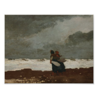 Winslow Homer - Two Figures by the Sea Photograph
