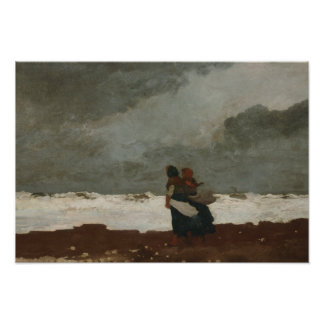 Winslow Homer - Two Figures by the Sea Photographic Print