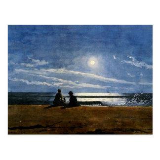 Winslow Homer watercolor, Moonlight Postcard