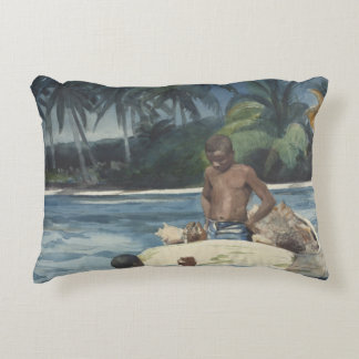 Winslow Homer - West India Divers Accent Pillow