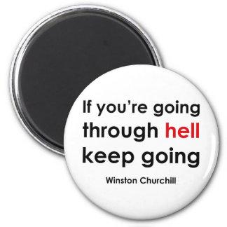 Winston Churchill 2 Inch Round Magnet