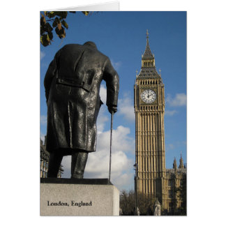 Winston Churchill and Big Ben Greeting Card