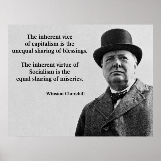 Winston Churchill Capitalism Quote Print