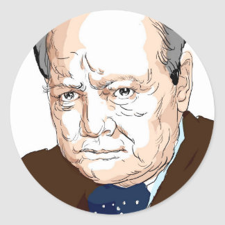 Winston Churchill Classic Round Sticker