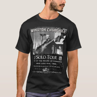 WINSTON CHURCHILL Gig Poster T-shirt